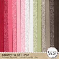 Showers of Love Digital Scrapbooking Embossed Cardstock