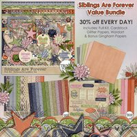 Siblings Are Forever Digital Scrapbooking Bundle