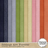 Siblings Are Forever Digital Scrapbooking Embossed Cardstock