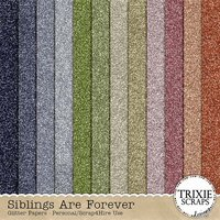 Siblings Are Forever Digital Scrapbooking Glitter Papers