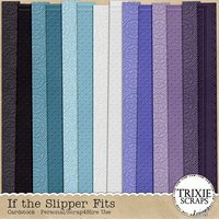 If the Slipper Fits Digital Scrapbooking Embossed Cardstock Disney