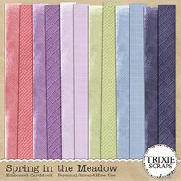 Spring in the Meadow Digital Scrapbooking Embossed Cardstock