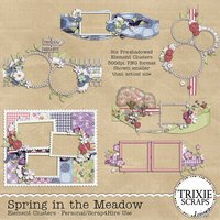Spring in the Meadow Digital Scrapbooking Clusters