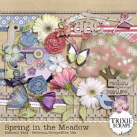 Spring in the Meadow Digital Scrapbooking Kit Seasons Heritage