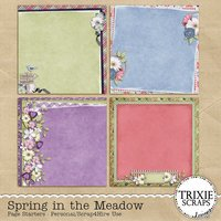 Spring in the Meadow Digital Scrapbooking Page Starters