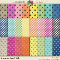 Summer Road Trip Digital Scrapbooking Bonus Papers