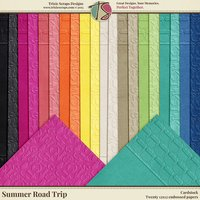 Summer Road Trip Digital Scrapbooking Cardstock