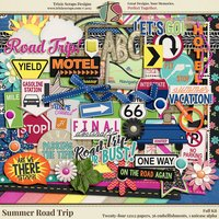 Summer Road Trip Digital Scrapbooking Kit