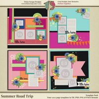 Summer Road Trip Digital Scrapbooking Templates
