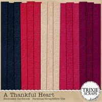A Thankful Heart Digital Scrapbooking Cardstock