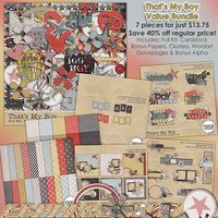 That's My Boy Digital Scrapbooking Value Bundle