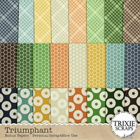 Triumphant Digital Scrapbooking Bonus Papers