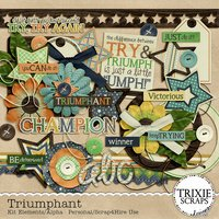 Triumphant Digital Scrapbooking Full Kit Triumph Determination