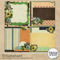 Triumphant Digital Scrapbooking Page Starters