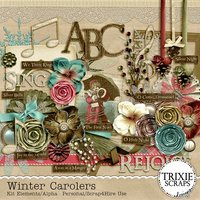 Winter Carolers Digital Scrapbooking Full Kit Holidays Christmas