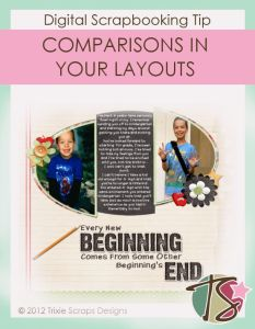Making A Layout Showing Comparisons
