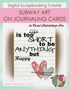 How To Use Subway Word Art On Journaling Cards