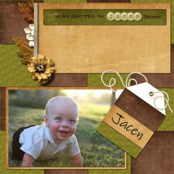 Grateful for Jacen digital scrapbook layout by Shilo