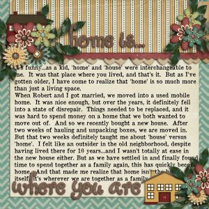 Scrapbooking Sentiments About Home