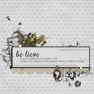 Sentiment Sunday ~ Word: Believe