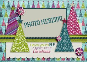 Scraplift a Custom Holiday Card
