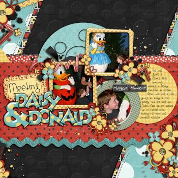 Trixie's Scrapbook Layout using Mr. and Mrs. Mouse