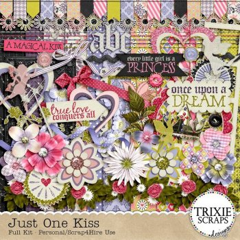 Digital Scrapbook Kit Just One Kiss Preview
