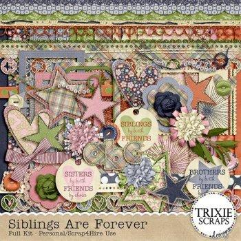 Siblings Are Forever Digital Scrapbook Kit Preview