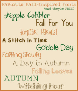 Favorite Fall-Inspired Fonts