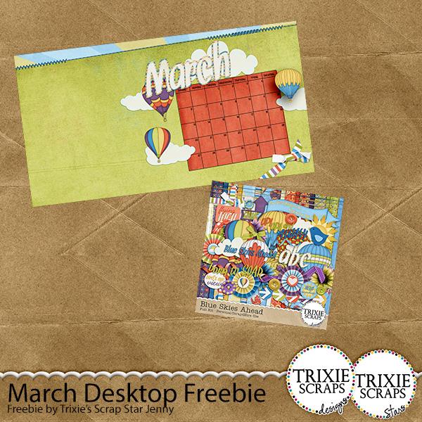 monthly desktop freebie by Jenny