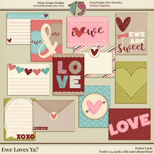 Ewe Loves Ya pocket cards