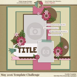 Get Scrappy with a Template Challenge