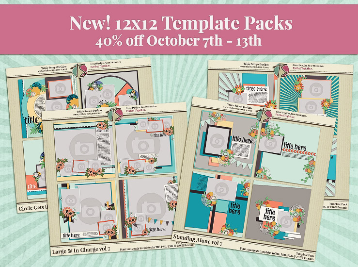 NEW Template Packs – 40% off!