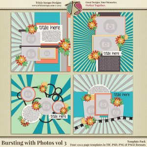 Bursting with Photos vol 3 Template Pack