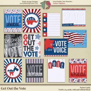 Get Out the Vote Pocket Cards