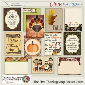 The First Thanksgiving Pocket Cards