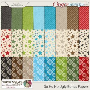 So Ho Ho Ugly Bonus Papers