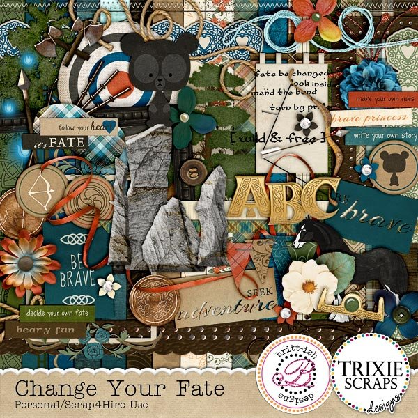 Change your Fate Digital Scrapbooking Kit By Trixie Scraps