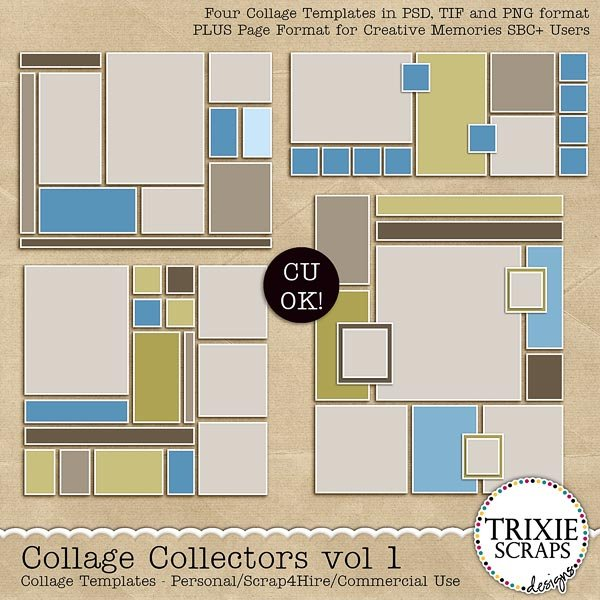 Collage Collectors template pack