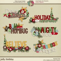 Jolly Holiday Digital Scrapbooking Wordart