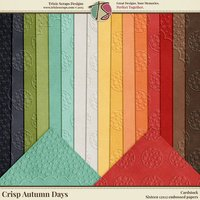 Crisp Autumn Days Digital Scrapbooking Cardstock