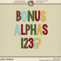 Jolly Holiday Digital Scrapbooking Bonus Alphas