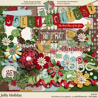 Jolly Holiday Digital Scrapbooking Kit