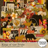 King of the Pride Digital Scrapbooking Full Kit Disney
