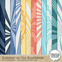 Summer on the Boardwalk Digital Scrapbooking Sunburst Papers