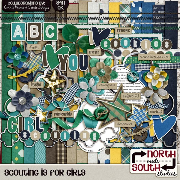 Scouting is for Girls Digital Scrapbooking Kit by North Meets South Studios
