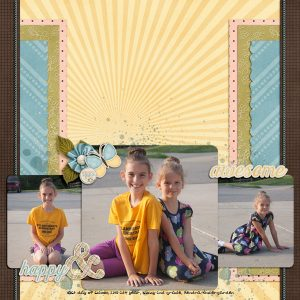 One Happy Day digital scrapbooking layout by jenny