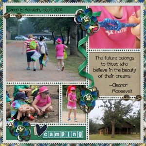 Eleanor Roosevelt quote using Scouting is for Girls Digital Scrapbook Layout by Stacy