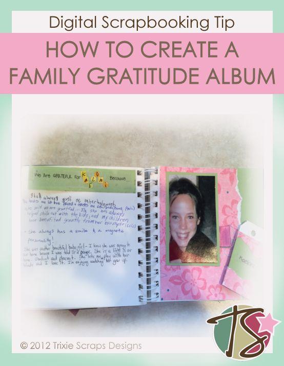 creating a family gratitude album tutorial