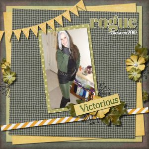 Rogue digital scrapbook layout by Shilo